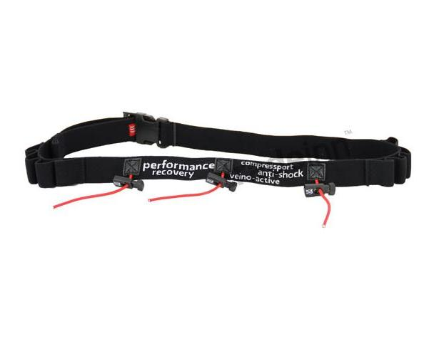 Compressport Racebelt (Number+gel) - (Μαύρη)