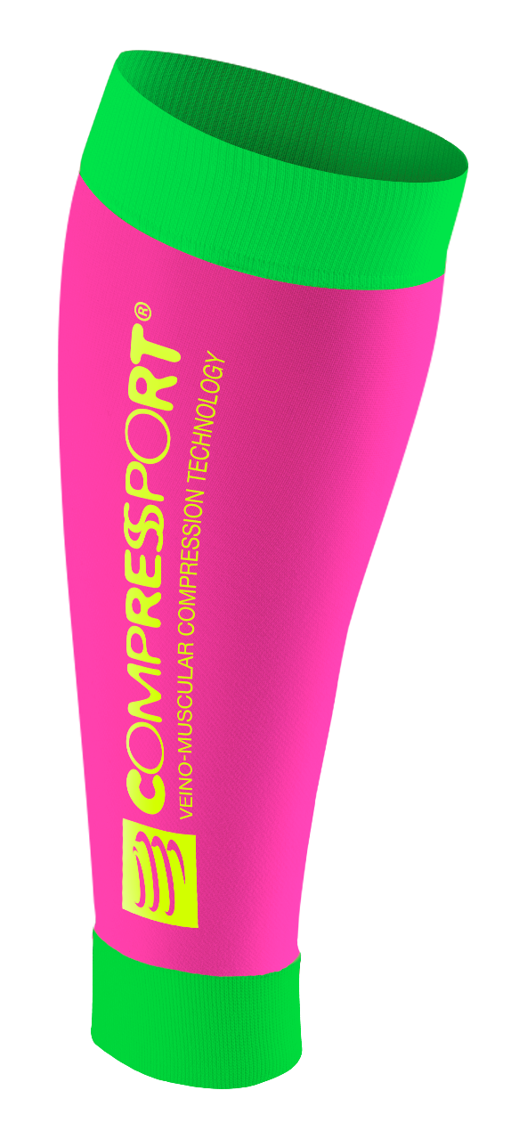 CompresSport R2 FLUO (Race & recovery) - (ΡΟΖ-ΠΡΑΣΙΝΟ)