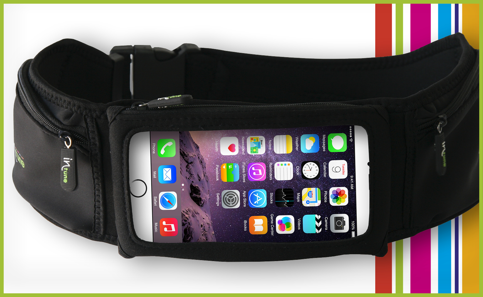 "INTUNE BELT 5"" (Smartphone + 2 BIG POCKETS)"