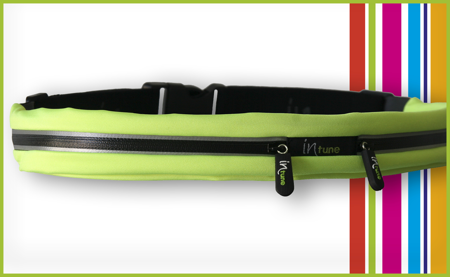 INTUNE SB2 (2 Stretch Pockets)-(LIME / BLACK)