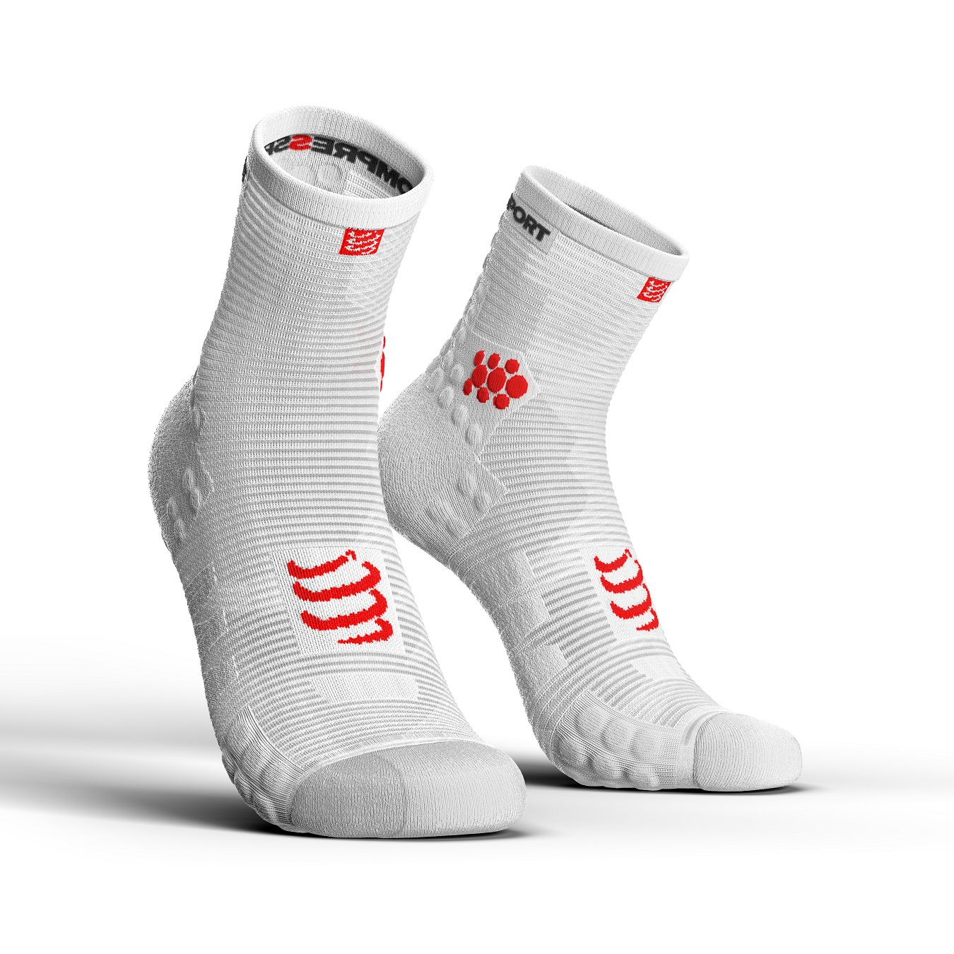 COMPRESSPORT V3 HI SMART RUN SOCKS -(Ασπρη)