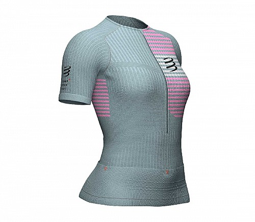 COMPRESSPORT TRIATHLON SHORT SLEEVE (ΓΚΡΙ) - ΓΥΝΑΙΚΕΙΟ